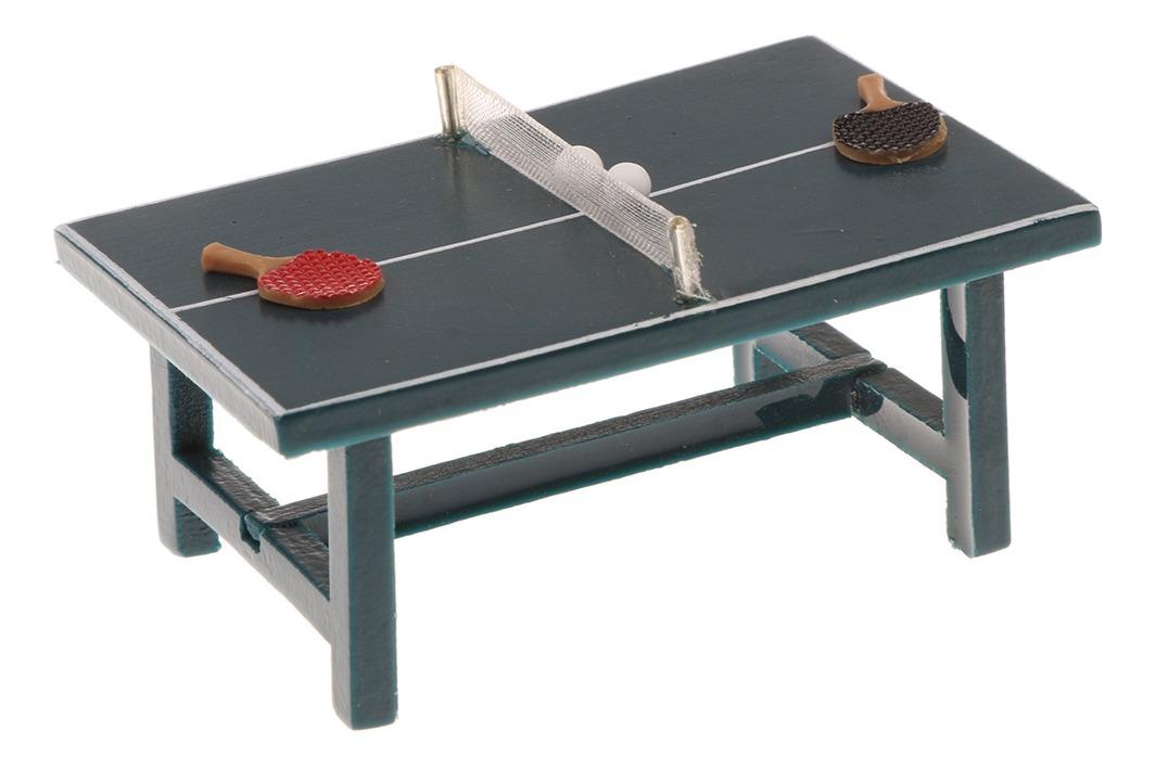 1/12 Dollhouse Miniatures Mobiliário Ténis Mesa Ping Pong Ba