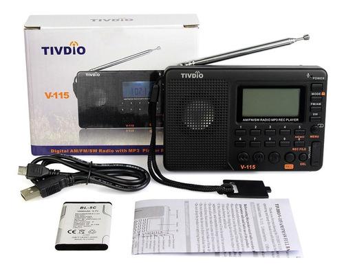 115 v tivdio am/fm/sw mini radios mundo banda receptor repro