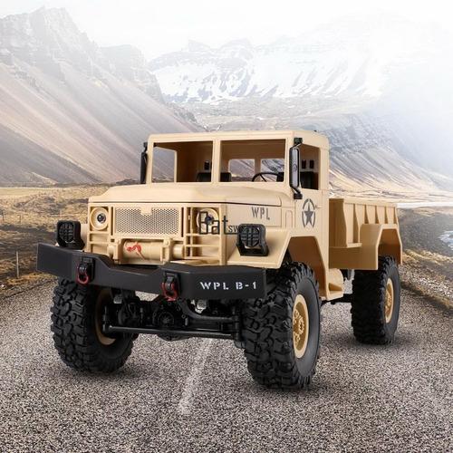 1/16 4wd 2.4g coche eléctrico rc militar carro de juguete de