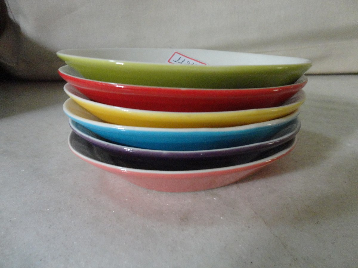 11719 jogo 6 pratinhos porcelana italiana coloridos for Porcelana italiana