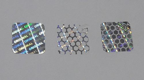 1176 hologramas de 1x1 cm - stickers - sellos de seguridad