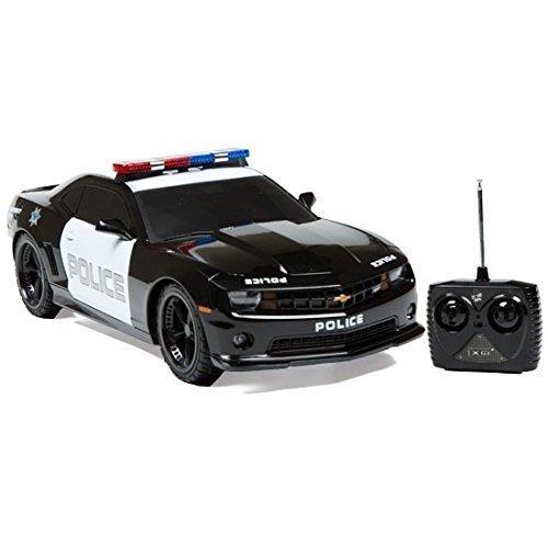 1:18 autorizado chevrolet camaro coche de policía rc radio c
