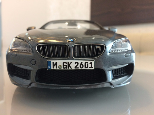 1:18 bmw m6 convertible paragon models space gray na caixa