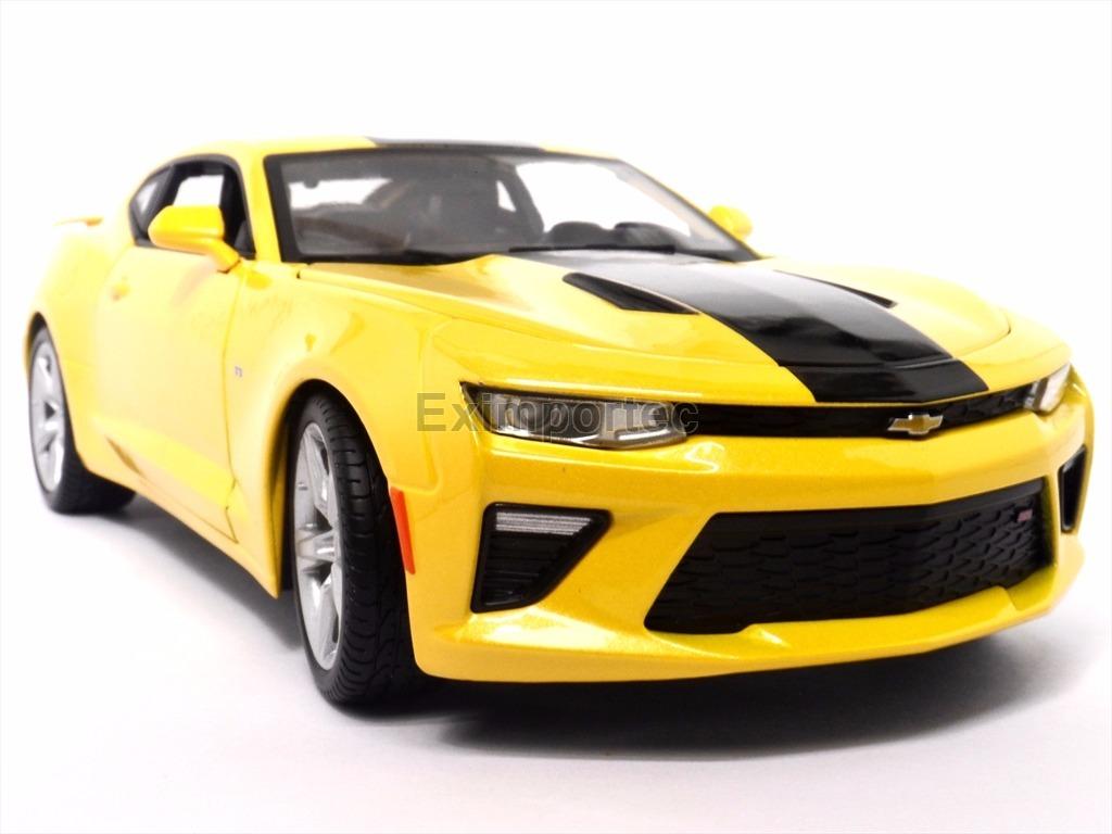 1 18 Chevrolet Camaro Ss 2016 Amarillo Nuevo Coleccion