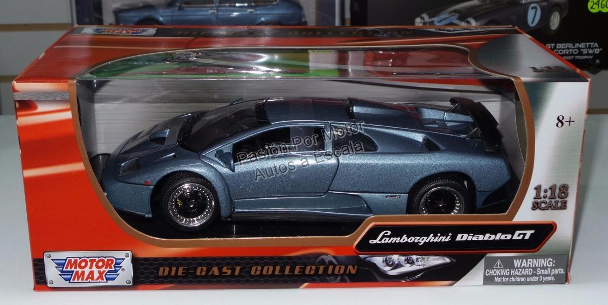 1 18 Lamborghini Diablo Gt 1999 Azul Motor Max 1 015 00 En