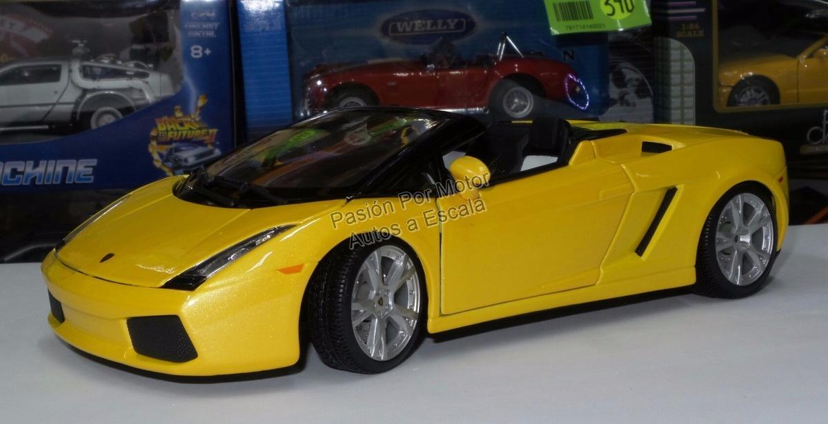 1 18 Lamborghini Gallardo Spyder Amarillo Maisto 620 00 En