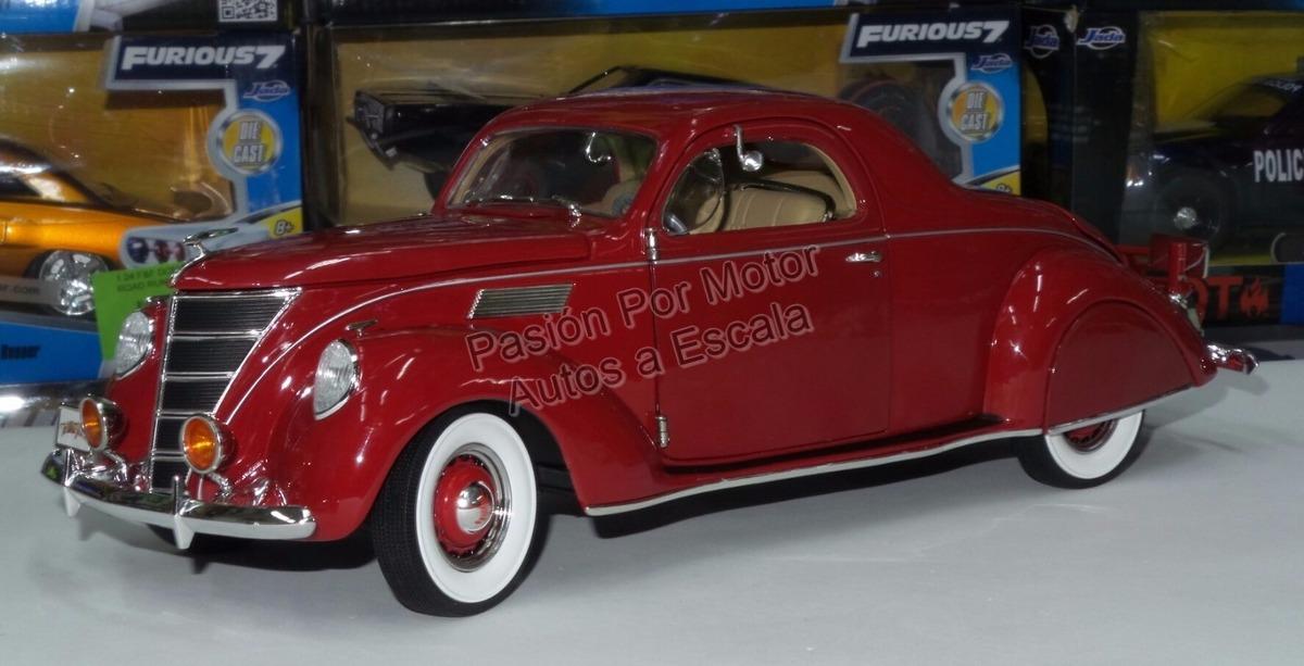 1 18 Lincoln Zephyr 1937 Rojo Los Tres Chiflados Auto World