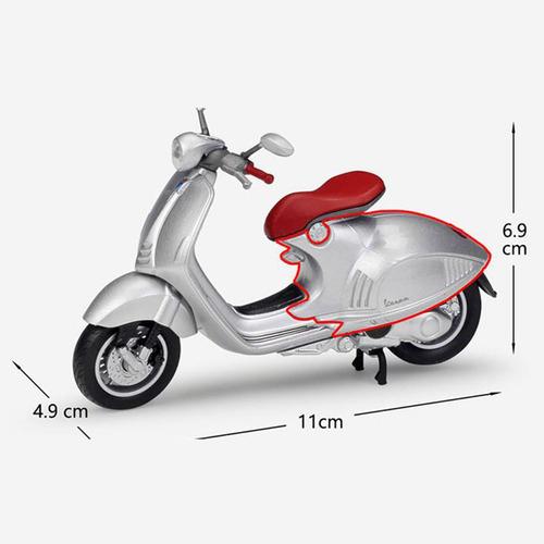 1:18 vespa 946 scooter simulación de aleación modelo de moto