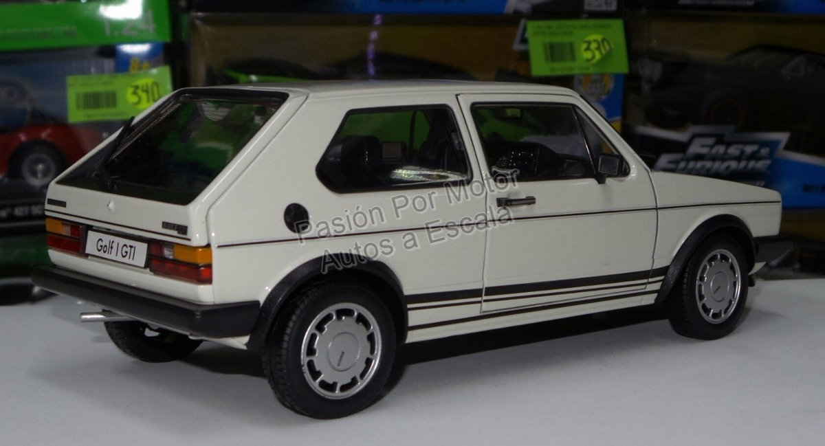 1 18 volkswagen golf gti a1 1983 blanco welly caribe 1 en mercado libre. Black Bedroom Furniture Sets. Home Design Ideas