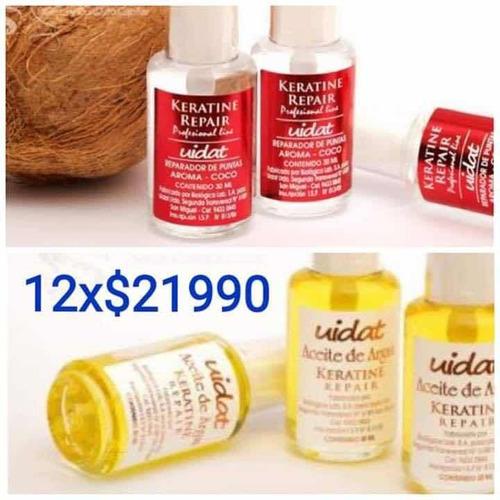 12 aceites capilar argan y keratina