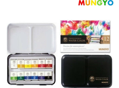 12 acuarelas mungyo water color professional