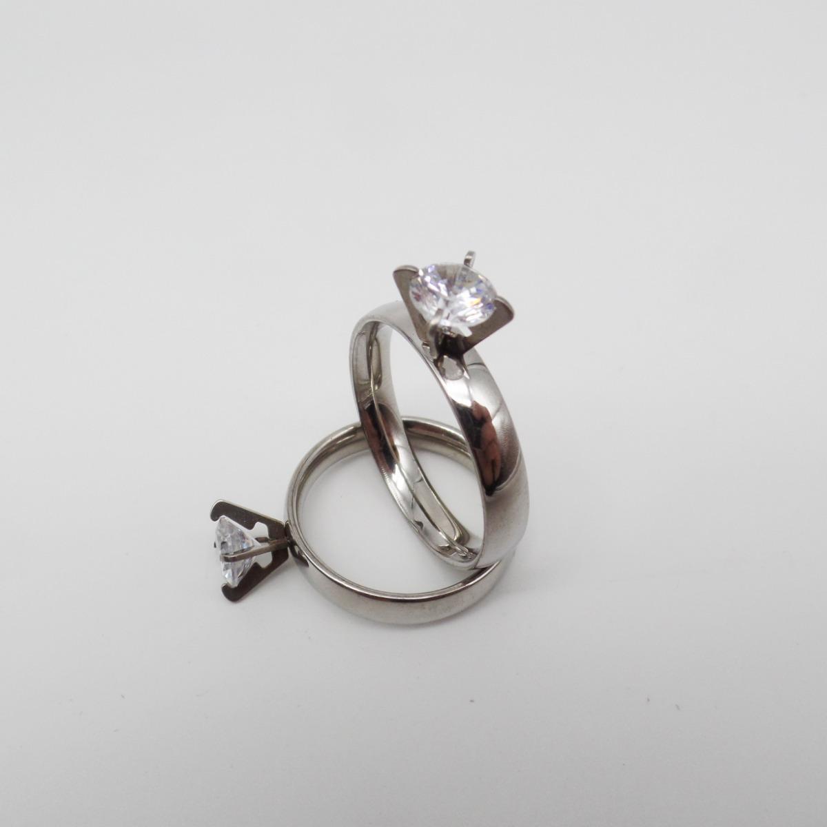 366018323ca0 12 anillos acero quirurgico 316l piedra cubic por mayor. Cargando zoom.