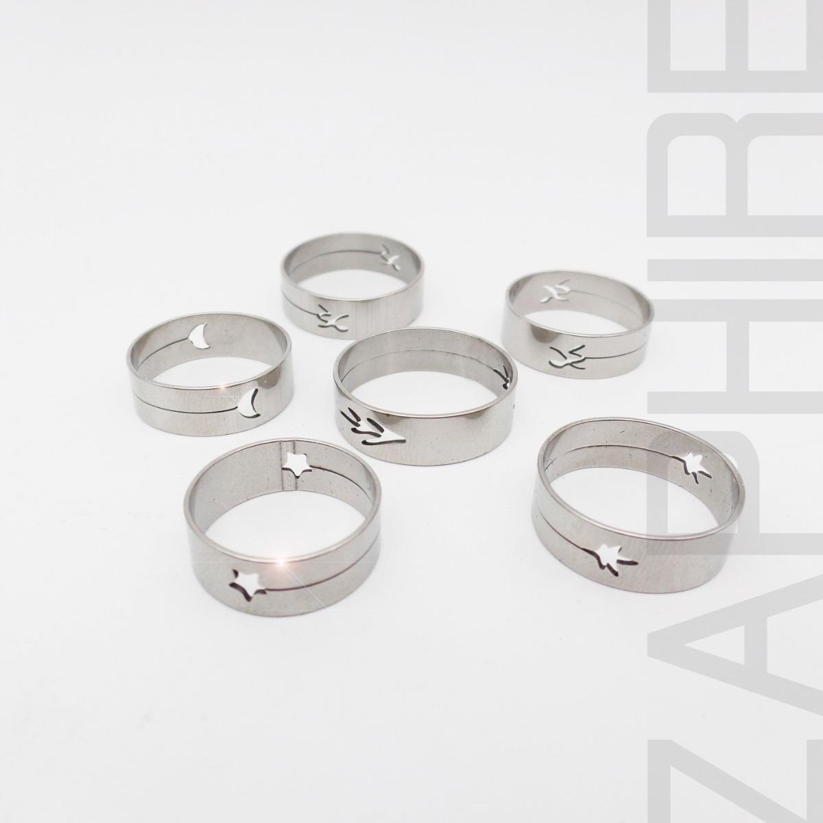 786d418faa8b 12 anillos acero quirurgico formas caladas laser por mayor. Cargando zoom.