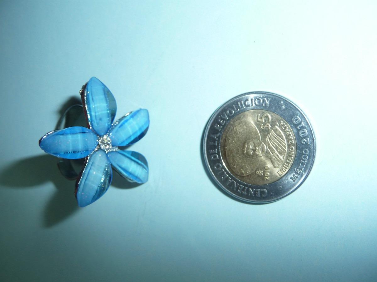 ae1b5c95a545 12 Anillos De Moda Fantasia Fina Flores Cristal -   140.00 en ...