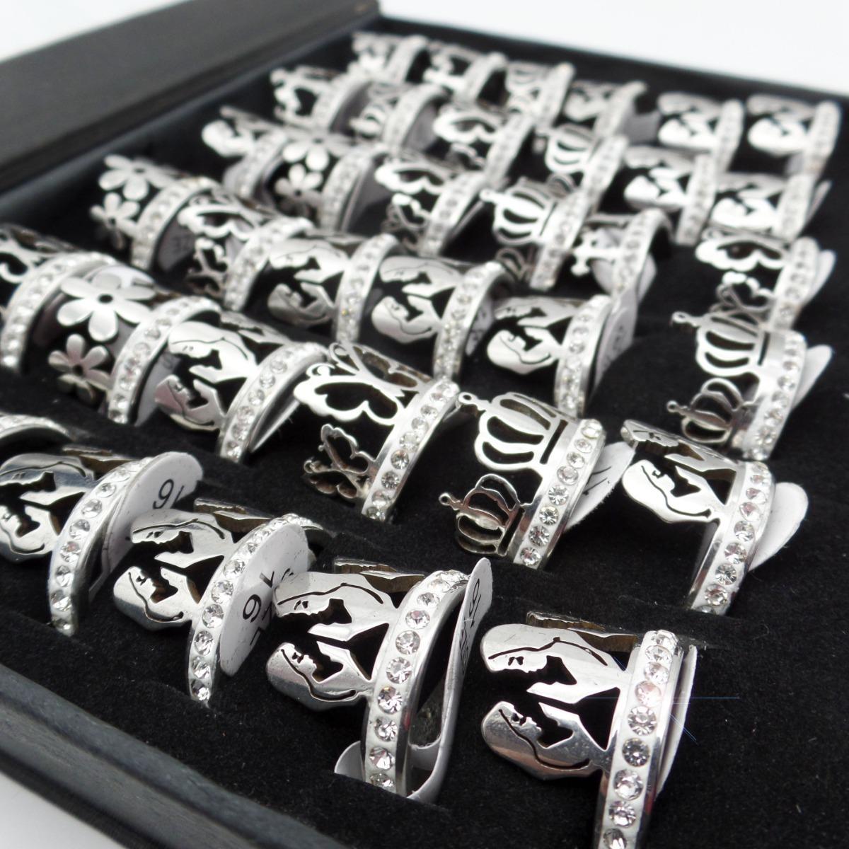 5dd4eea473ff 12 anillos formas caladas y sin fin acero quirurgico xmayor. Cargando zoom.