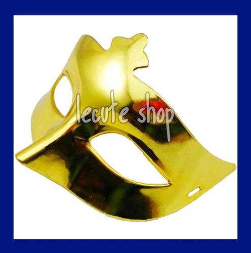12 antifaces metalicos varios colores plastico antifaz fiest