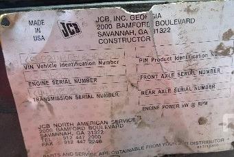 12) aproveche oferta retroexcavadora jcb 214e 4t 4x4 2005
