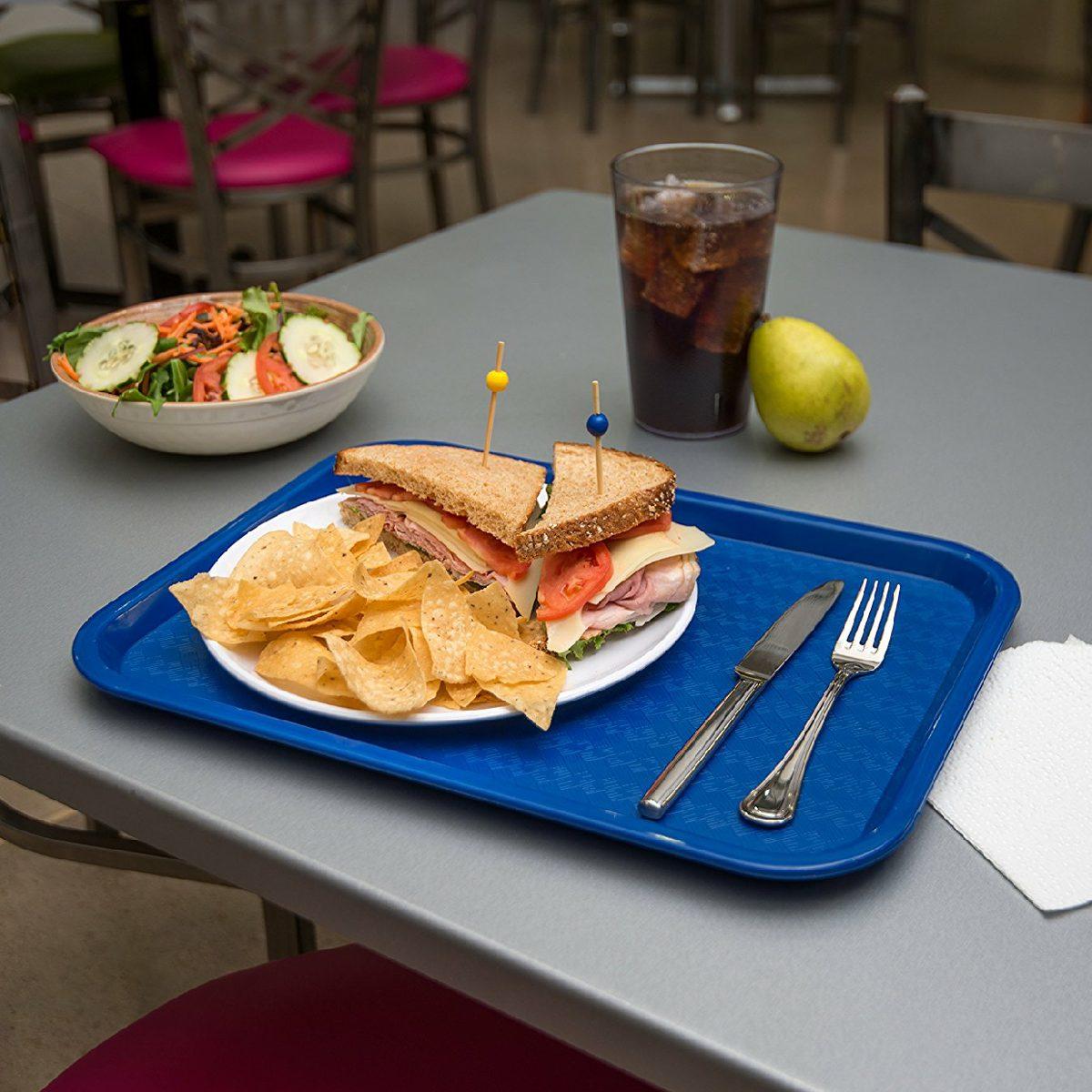 12 bandejas charolas restaurante cafeteria comida r pida for Comidas con d