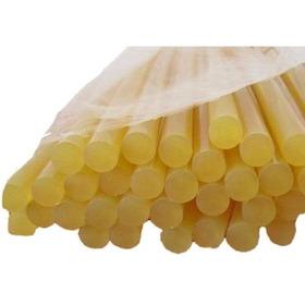 12 Barras De Silicon Amarillo Extrafuerte Manualidades