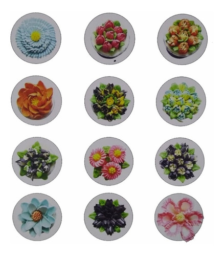 12 bico russo confeitar doces cupcake flores frete gratis
