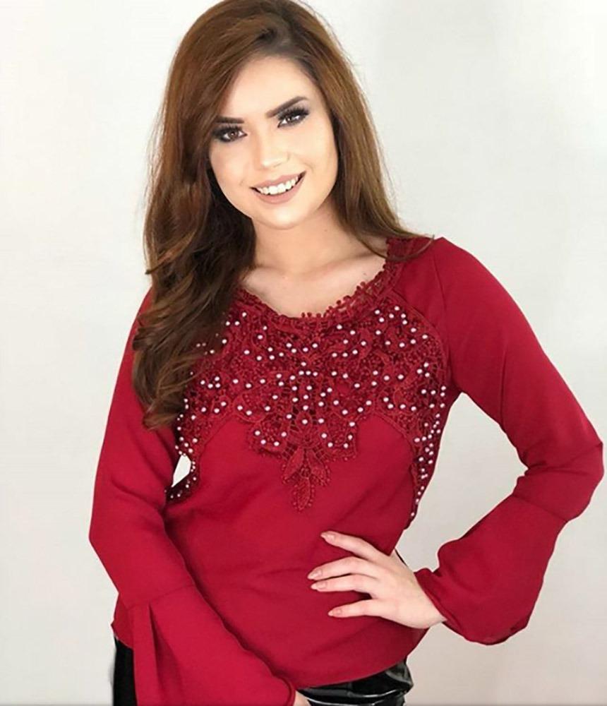 5ae1aa7a34 12 blusa roupas femininas evangelica inverno frete gratis. Carregando zoom.