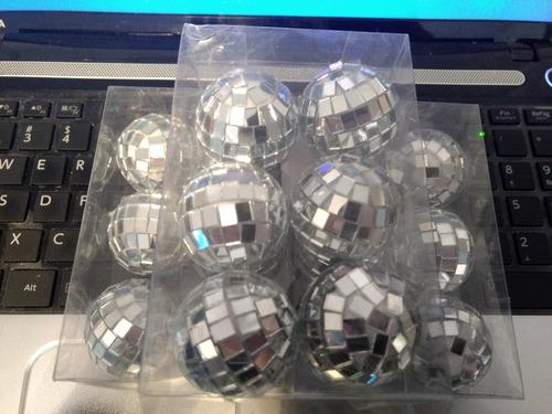 12 bolas de boliche espejadas para armar souvenirs nro 4
