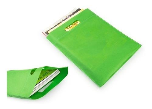 12 bolsa ecológicas tamaño 28cm x 36cm fuelle 6cm colores su