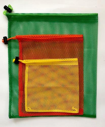 12 bolsas ecologicas para frutas y verduras diferentes tamañ