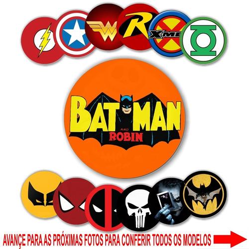 12 bottons buttons pins broches 2,5 cm super heróis hqs geek