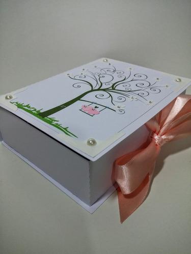 12 caixas convite lembrancinha casamento padrinhos arvore