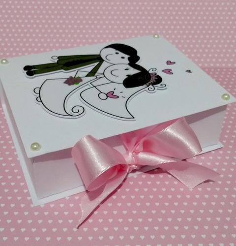 12 caixas convite lembrancinha casamento padrinhos noivinhos