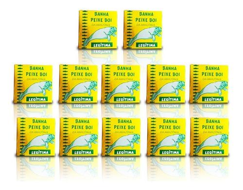 12 caixas pomada peixe boi da amazônia - banha