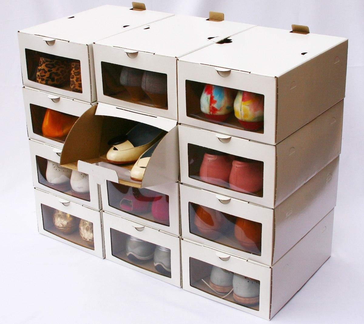 Caja Zapatos 12 Botas Para 6 Cajas mvNO8n0w