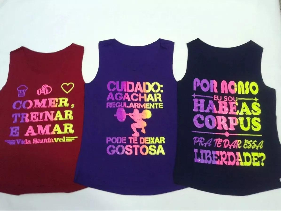 969f033f11 12 camisetas regata fitness feminina academia estampadas. Carregando zoom.