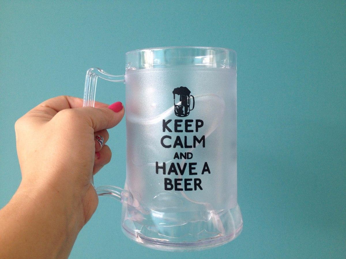 13ac098fd 12 canecas cerveja chopp gel congelante 450ml personalizadas. Carregando  zoom.
