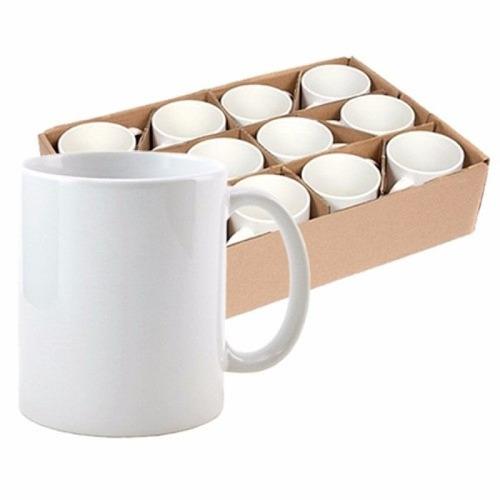 12 canecas porcelana super branca sublimação aaac/ caixinhas