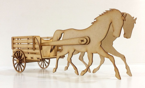 12 carretas mdf centro mesa boda juguete caballos