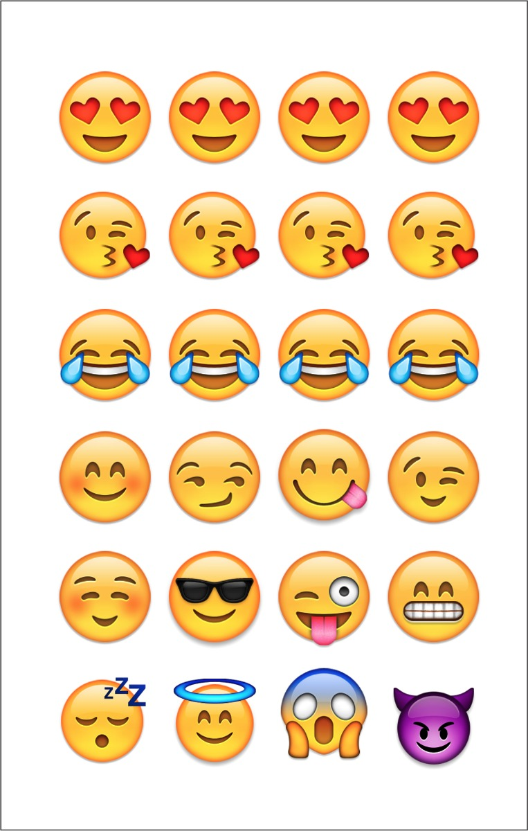 12 cartelas com 24 adesivos 2cm emojis frete barato r