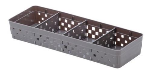 12 cestos organizadores c/ divisória quadratta paramount