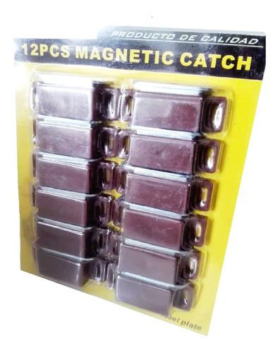 12 cierres magneticos cafe - fuerza alta