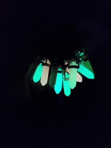 12 colares de pedra fluorescente brilha no escuro ref: 9952