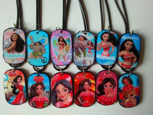 12 collares para niñas frozen, soy luna, moana, shopkins,