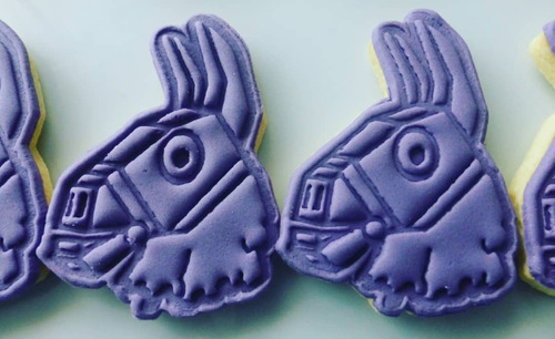 12 cookies/galletitas tematica fortnite llama moneda pavos