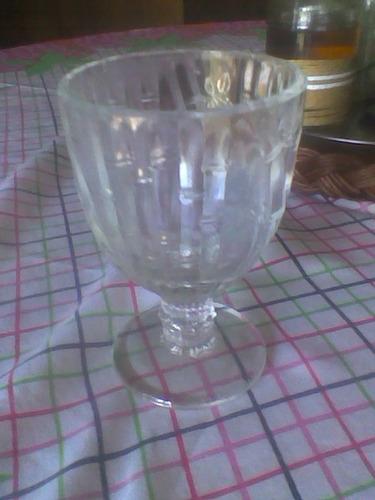 12 copas labradas cristaleria querandi