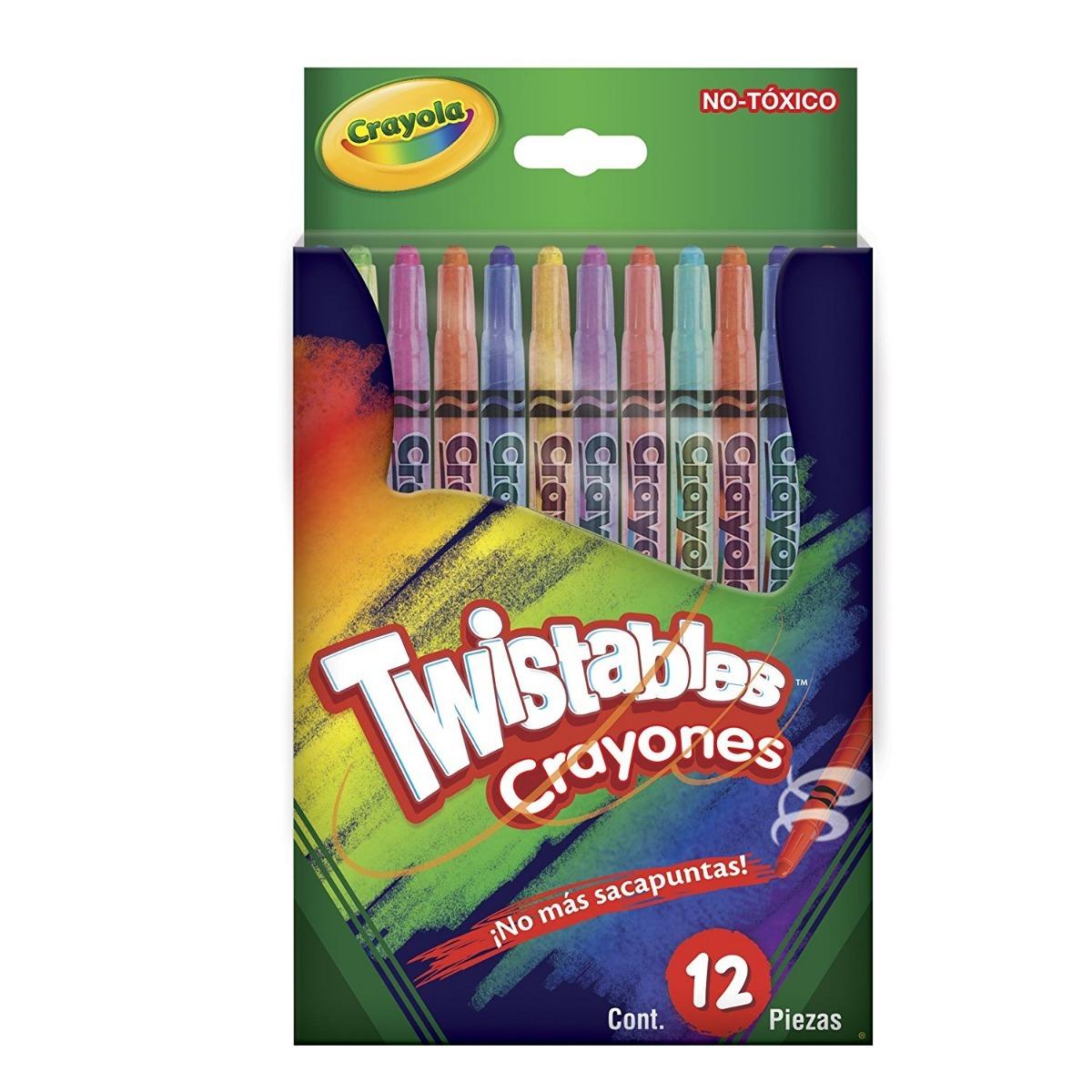 12 Crayones Twistables Crayola Envio Gratis - $ 195.00 en Mercado Libre