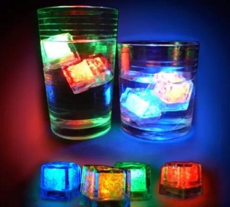 12 cubos luminosos led hielos sumergibles antro bar fiestas