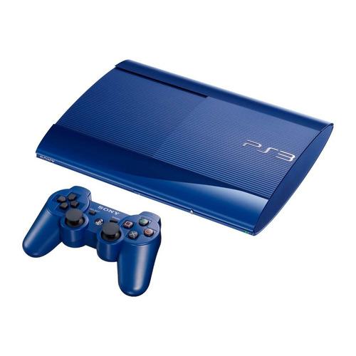 12 cuotas fijas playstation 3 superslim 500gb azul + juego