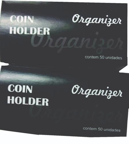 12 cxs coin holder  cx com 50 unidades novo - 12 x sem juros