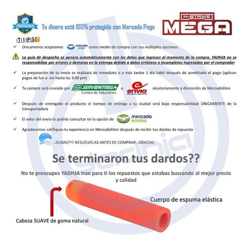 12 dardos mega de repuesto compatibles para nerf n-strike
