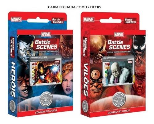 12 decks cardgames marvel - battle scenes vilões